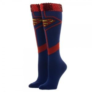 Superman Sequin Women's Knee High Socks DC Comics
